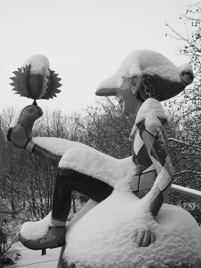 Kasper ruft zur Ausstellung im Jägerhof (Foto K. Funke)