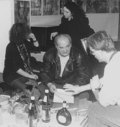 Dieter Malschewski (m.) im Kreis der Redaktion
