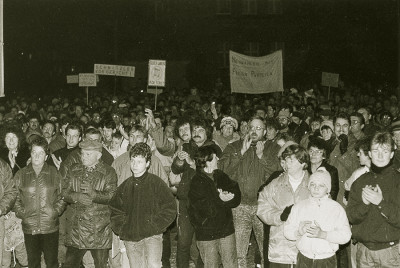 Demonstration am 28. 11. 1989