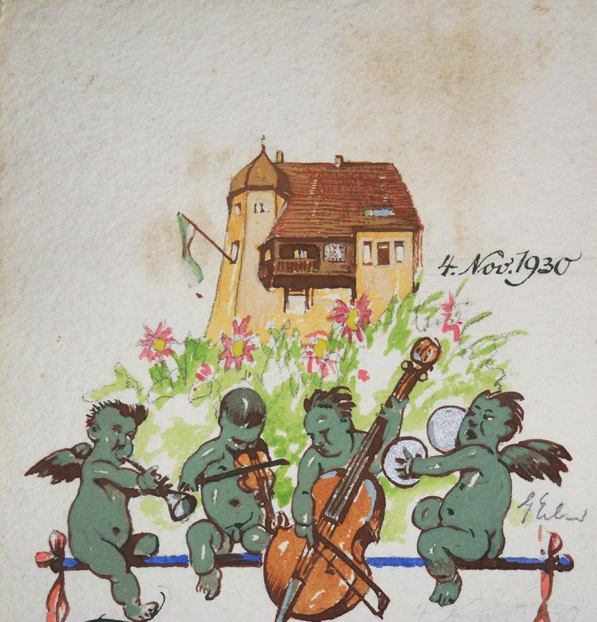 Villa in Loschwitz, Zeichnung von Georg Erler, 1930