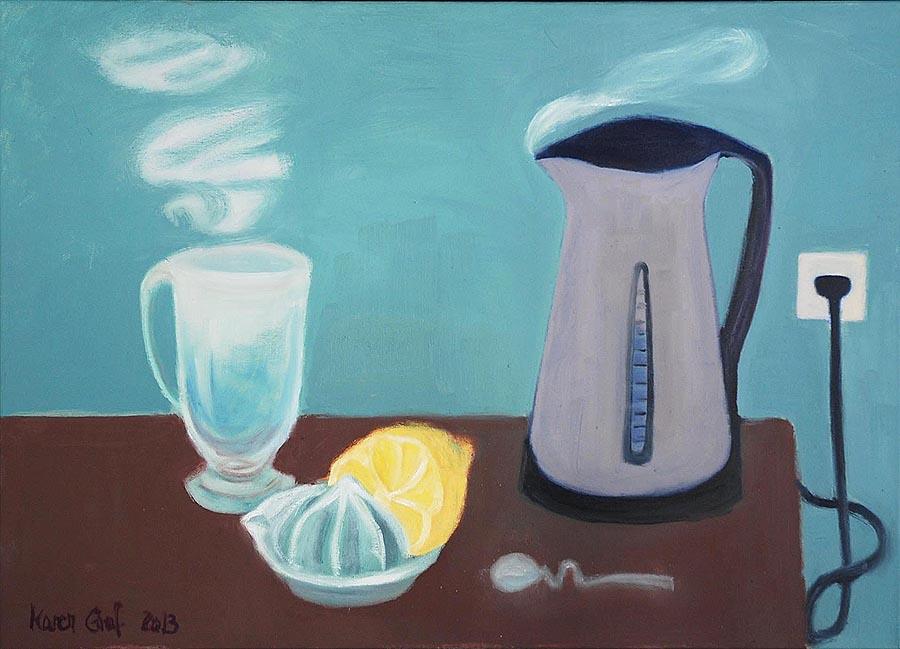 Karen Graf, »Stillleben mit Wasserkocher«, 2013