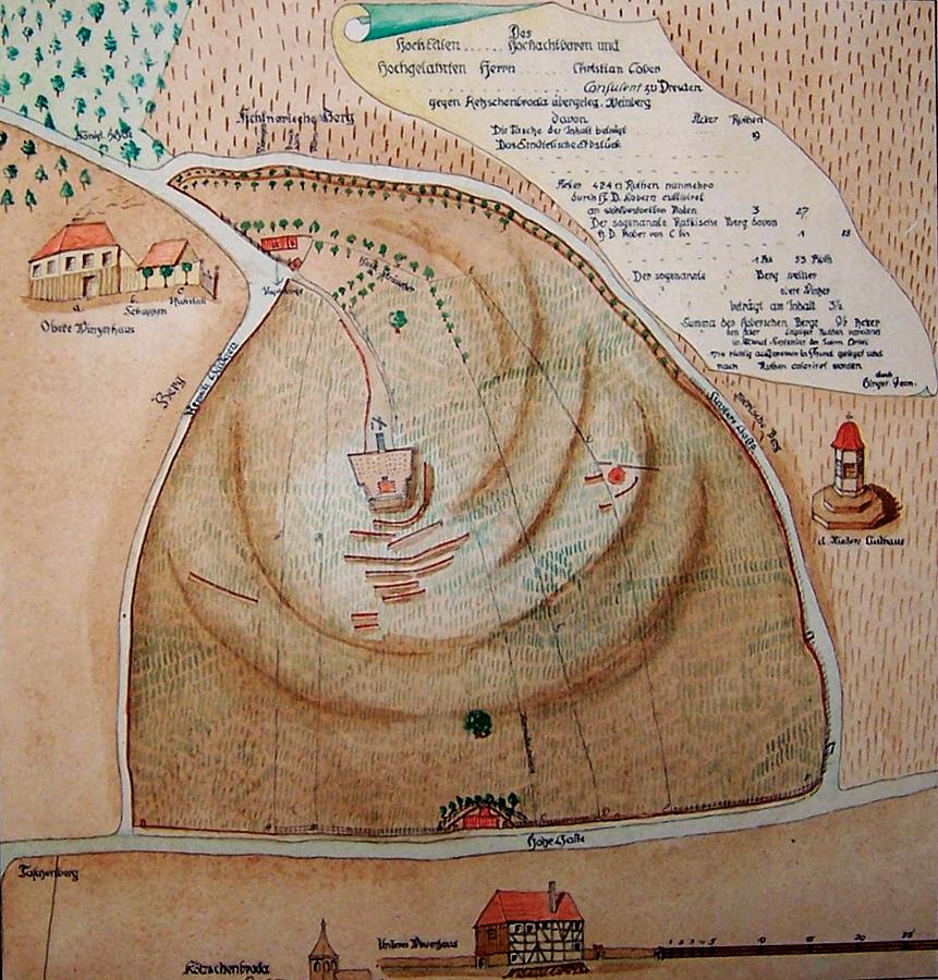 Der  Kobersche Weinberg, Plan von 1714