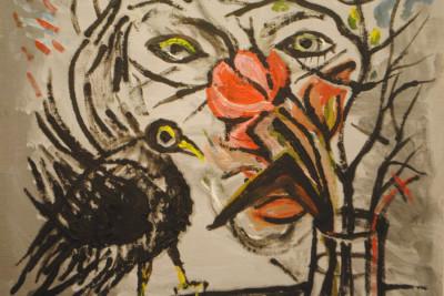 »Gesicht, Blumen, Rabe«, 2004
