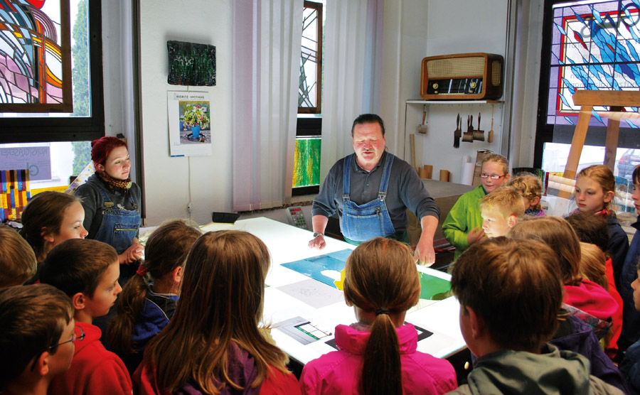 In der Werkstatt von Kunstglaser Tilo Starke