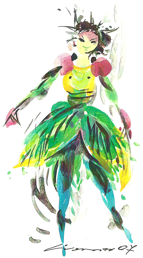 Tänzerin in Grün
