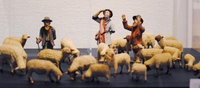 Schäfer, die ihre Herden hüten