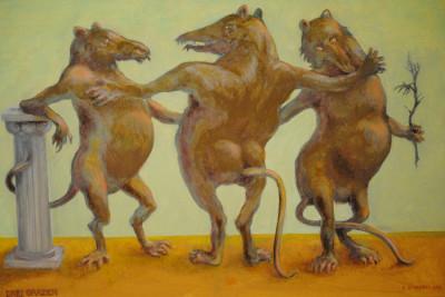 »Selbst – Im Kreis der Freunde«, Öl, 2013