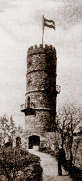 »Mäuseturm«, um 1900