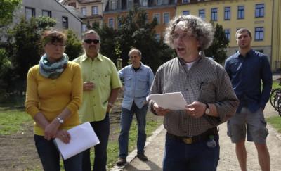 Frank Andert zur Eröffnung des Apothekergartens Bild: K. U. Baum; K. (Gerhardt) Baum