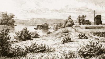Kötitzer Schiffsmühle, um 1875