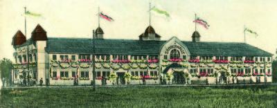 Das ursprüngliche Gebäude diente als Schützen-, Sänger- und Ausstellungshalle Bild: Radebeuler Stadtarchiv