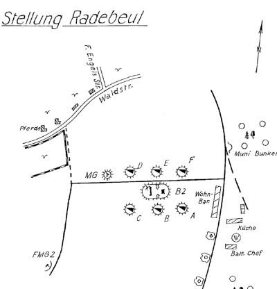 Heimatflakstellung Radebeul Waldstraße bis Anfang Juli 1944 mit sechs Geschützen Bild: E. Sennewald