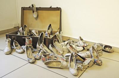 Gabriele Schindler, +++Paradiso+++, Installation, 2015 Foto: PR Radebeuler Stadtgalerie
