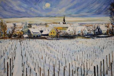 »Winterlandschaft«, Tusche