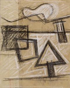 Glöckner, »Formen in der Landschaft«, um 1958 Foto: G. Klitzsch
