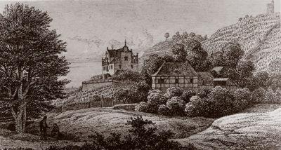 Ansicht Jägerberg um 1845, vor Umbauten  1872 und 1898