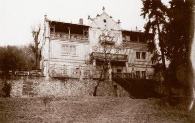 Ansicht Villa am Jägerberg von der Gartenseite, 1962