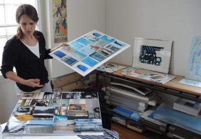 Bei Sophie Cau im Atelier auf der Gartenstraße