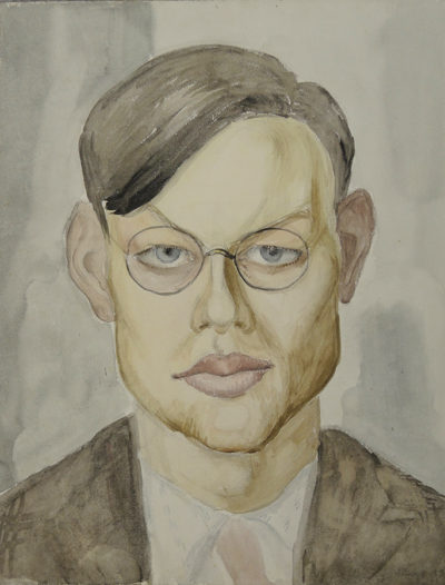 Gussy Ahnert »Porträt Erhard Hippold«, 1932, Aquarell
