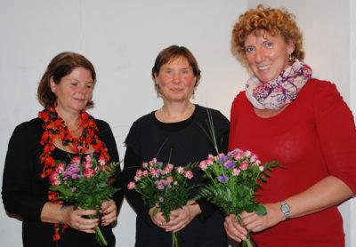 Der Vorstand des Förder- kreises: Marion Scherber, Gudrun Wittig und Sabine Flierl (v. l. n. r.)