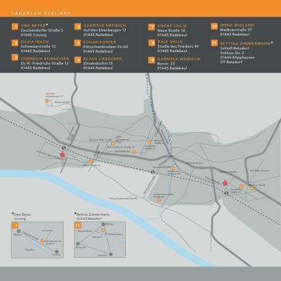 Lageplan der Ateliers