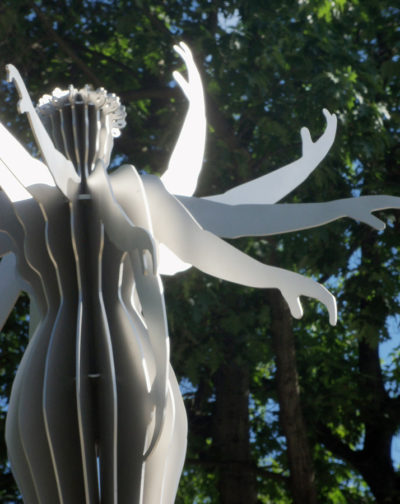 Detail der Skulptur